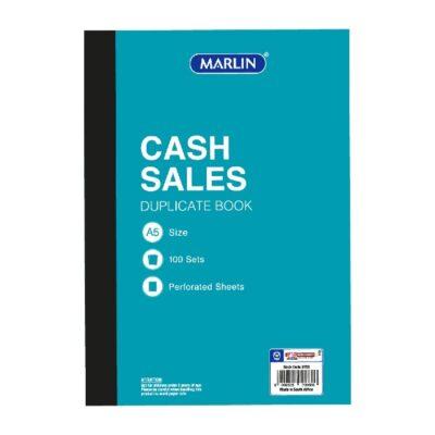 CASH SALE BOOK A5 DUPLICATE MARLIN