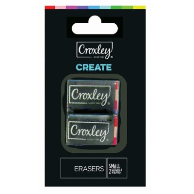 ERASER CROXLEY SMALL PACK OF 2