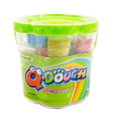 PLAY DOUGH Q DOUGH TUBS 12 MINI COLOURS