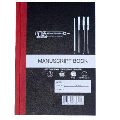 MANUSCRIPT BOOK 96 PG QUAD AND MARGIN