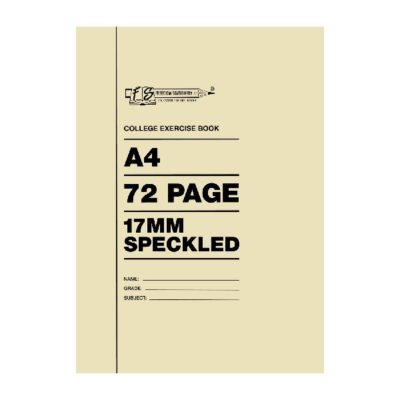 EXERCISE BOOK A4 72 PG 17 MM SPEC AND MARGIN
