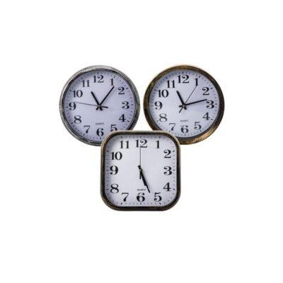 WALL CLOCK QUARTZ SQUARE & ROUND