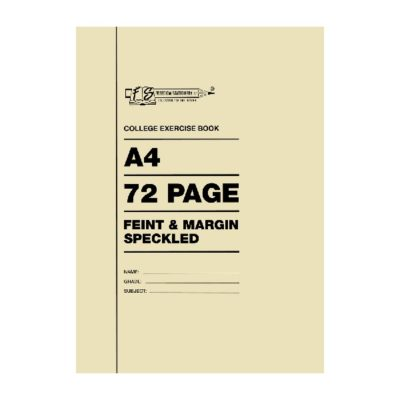 EXERCISE BOOK A4 72 PG FEINT AND MARGIN SPECKLED