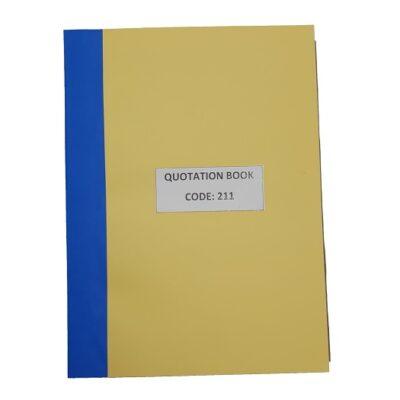 QUOTATION BOOK 100PG DUP ZULULANDER