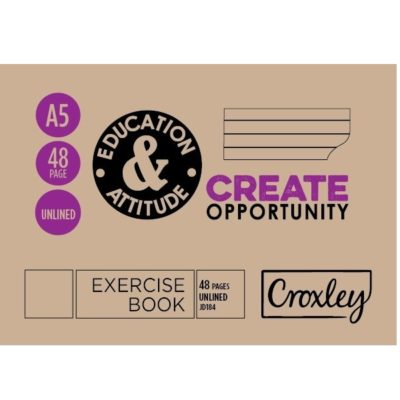 EXERCISE BOOK A5L 72 PG UNRULED