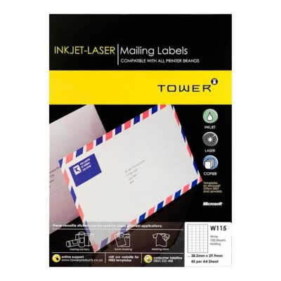 LABEL LASER 45UP 39.2 X 29.88MM WHITE @ (Available On Order Only)