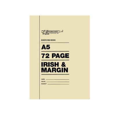 EXERCISE BOOK A5 72 PG IRISH AND MARGIN