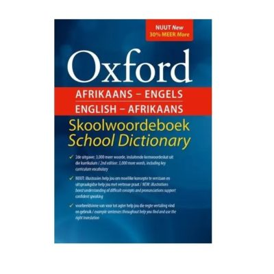 DICTIONARY OXFORD ENGLISH & AFRIKAANS