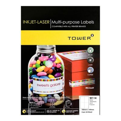 LABEL LASER 4UP 105 X 149MM A4 @ (Available On Order Only)