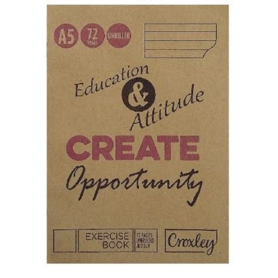 EXERCISE BOOK A5 72 PG UNRULED @ (Available On Order Only)