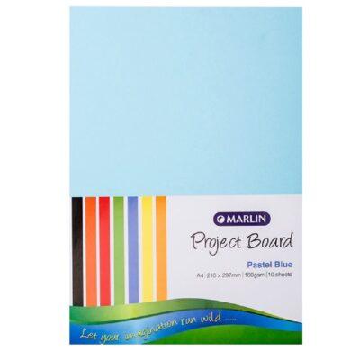 PROJECT BOARD PASTEL BLUE A4 10 PK