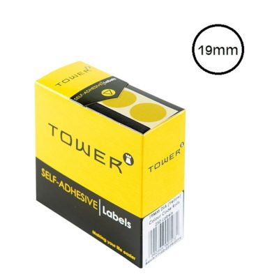 LABELS ROUND 19MM YELLOW
