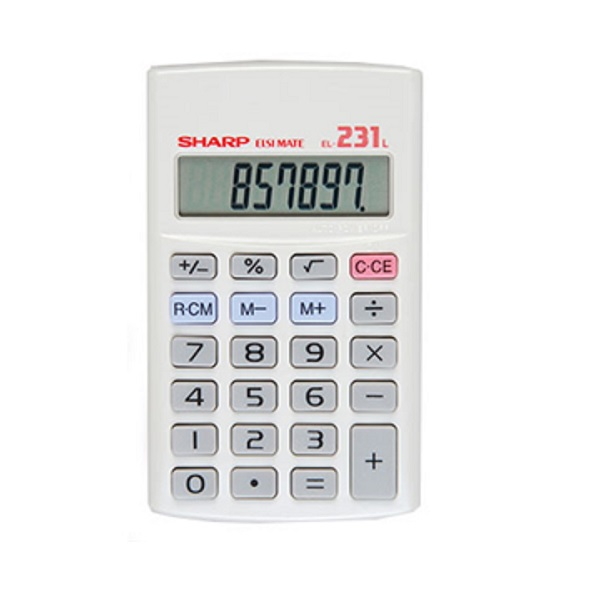 CALCULATOR SHARP EL231 HAND HELD