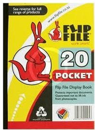 DISPLAY FILE FLIP FILE 20 POCKET