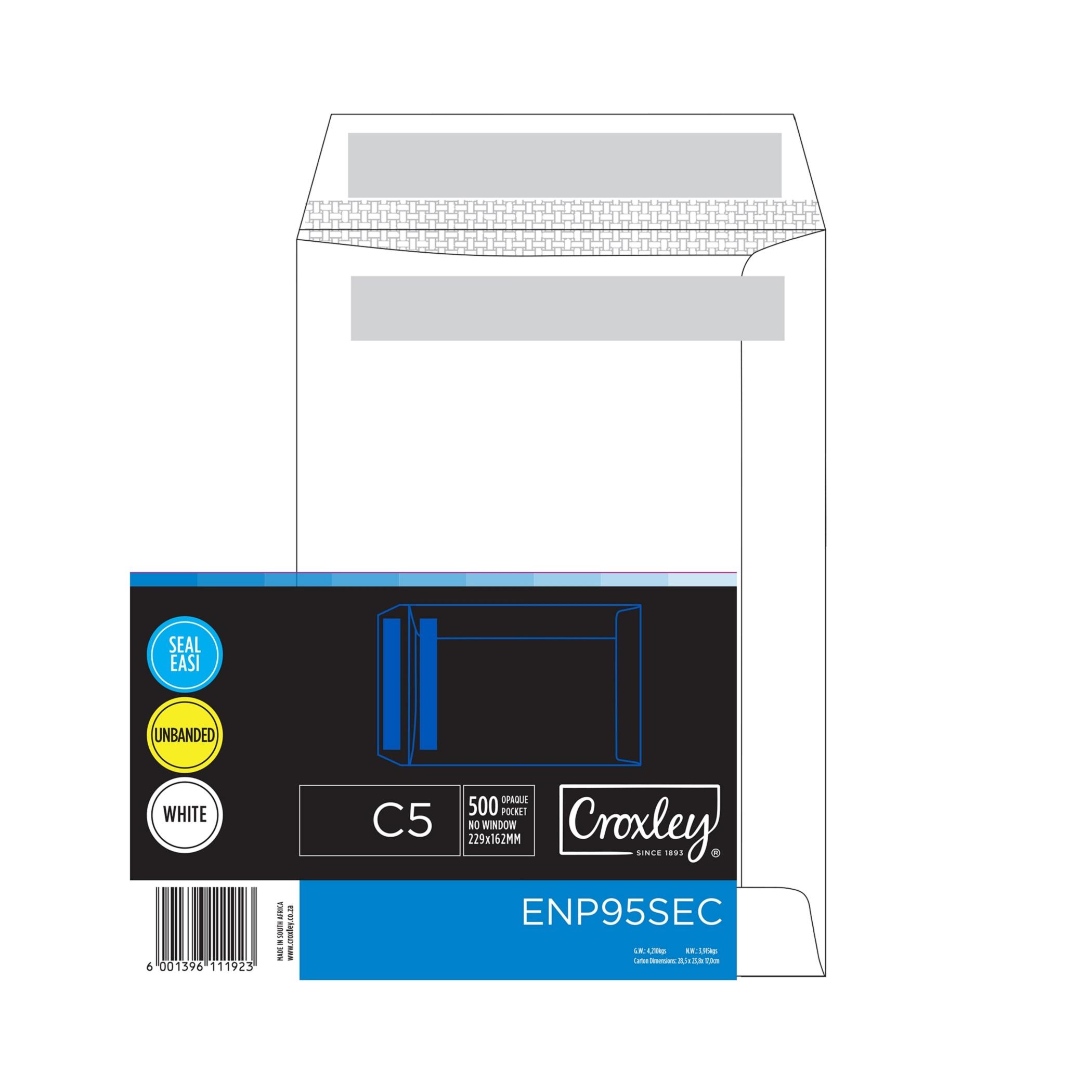 ENVELOPE C5 WHITE BOX OF 500