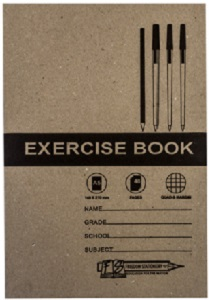 EXERCISE BOOK A4 48 PG QUAD AND MARGIN