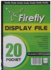DISPLAY FILE FIREFLY 20 POCKET