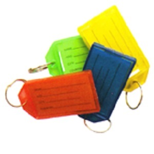KEY TAGS LARGE PACK OF 5