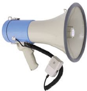 MEGAPHONE 25W EXT MICROPHONE