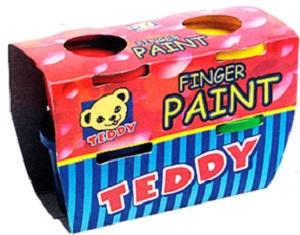 PAINT FINGER TEDDY 4 X 100 ML