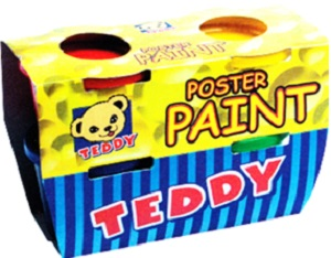 PAINT POSTER TEDDY 4 X 100 ML