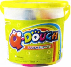 PLAY DOUGH Q DOUGH TUBS 7 LARGE COLOURS