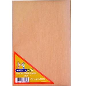 BOOK COVER PRE CUT A4 KRAFT 10 PK