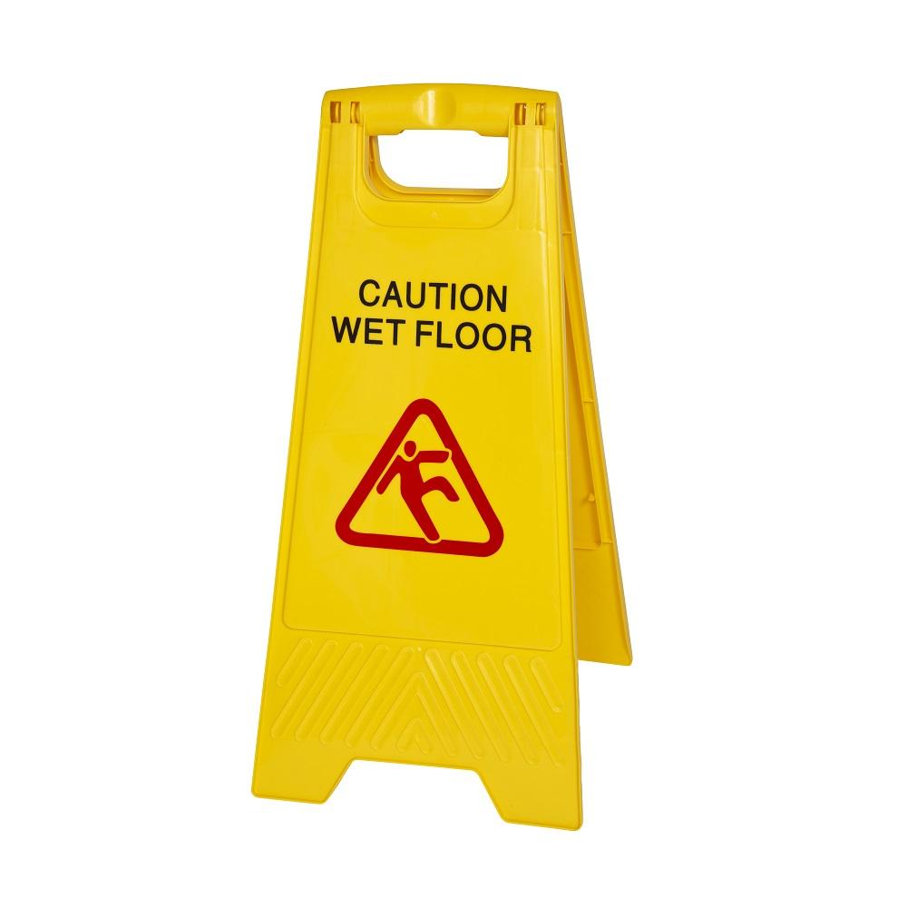 SIGN FLOOR CAUTION 2 PIECE