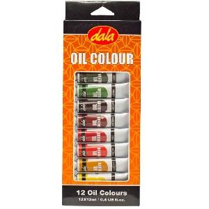 PAINT KIT OIL PAINT 12X12ML DALA
