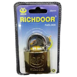 PADLOCK RICHDOOR BRASS 63 MM