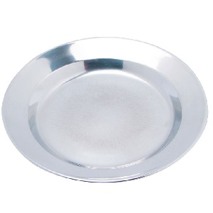 PLATE STAINLESS STEEL 24 CM