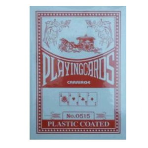 PLAYING CARDS P/COATED CARRIAGE