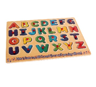 PUZZLE: PUSH IN BOARD ALPHABET AND NUMBERS
