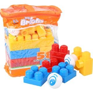 BUILDING BLOCK PLAY SET 58PC