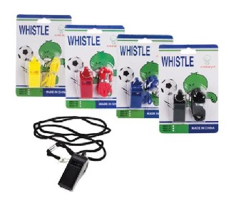 WHISTLE PLASTIC WITH STRING