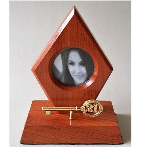 21ST TROPHY KEY WITH PICTURE FRAME