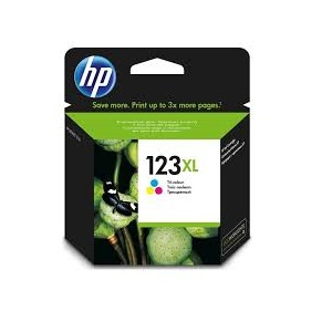 INK CARTRIDGE HP 123 TRI-COLOUR XL (Available On Order - 5 Days Dispatch) (Clearance Sale)