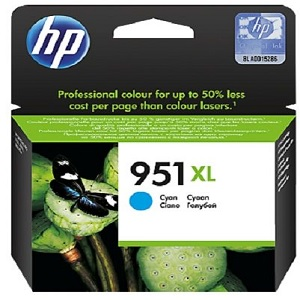 INK CARTRIDGE HP 951 XL CYAN HIGH YIELD (Available On Order - 5 Days Dispatch) (Clearance Sale)