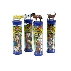 TOY ANIMALS IN TUBES