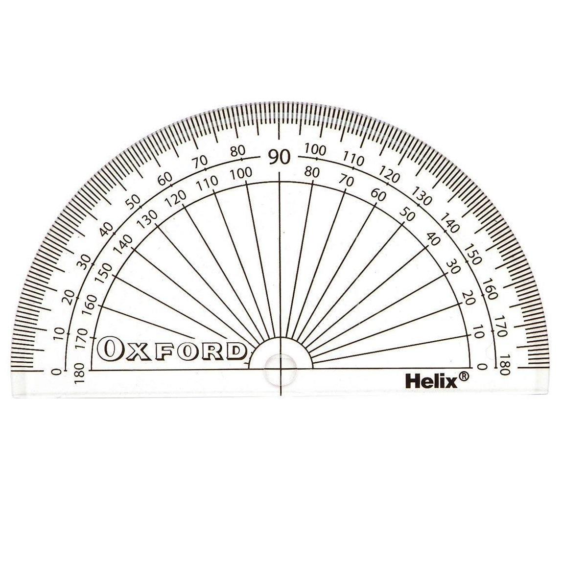 PROTRACTOR HELIX OXFORD 10CM 180 DEG