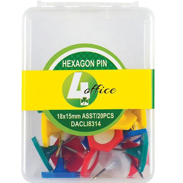 PINS HEXAGON 25PC