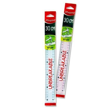 RULER MAPED UNBREAKABLE 30CM