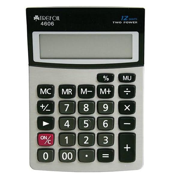 CALCULATOR TREFOIL 4606 12 DIGIT DESKTOP MINI