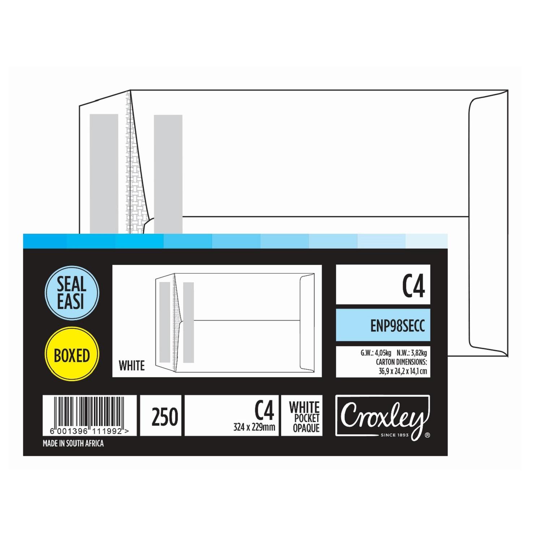 ENVELOPE C4 WHITE BOX OF 250