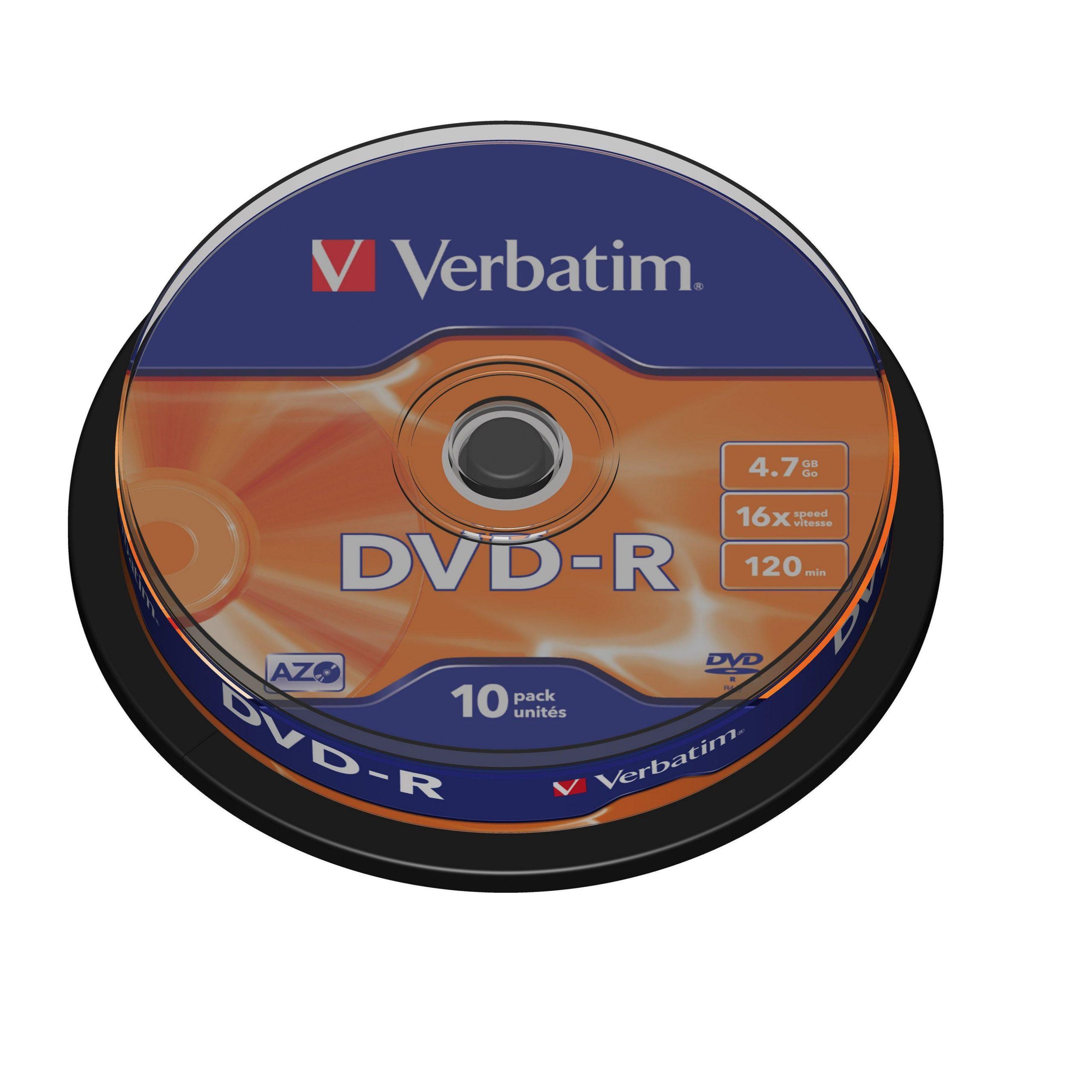 DVD-R VERBATIM 10 PACK