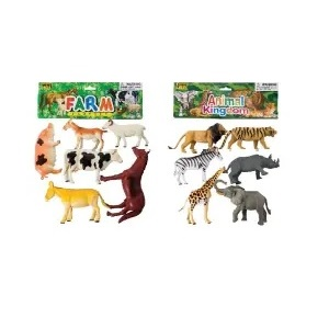 ANIMALS FARM/WILD ASSORTED 6 PIECE