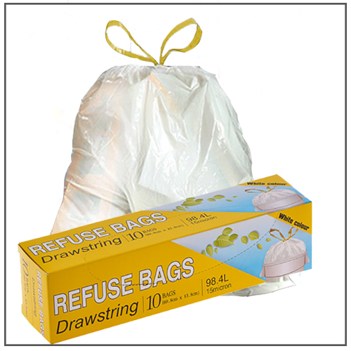REFUSE BAGS DRAW STRING 10 PACK