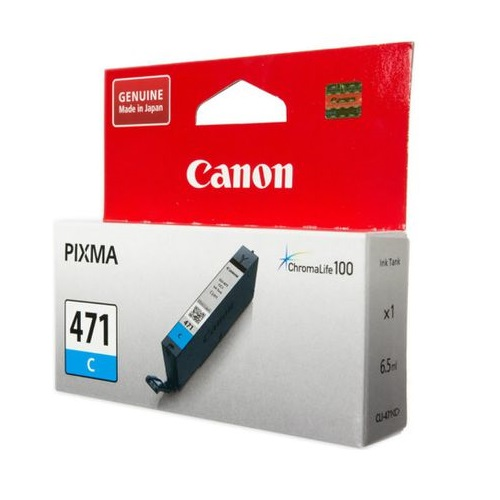 INK CART CANON 471 COLOUR CYAN ORIGINAL @ (Available On Order Only)