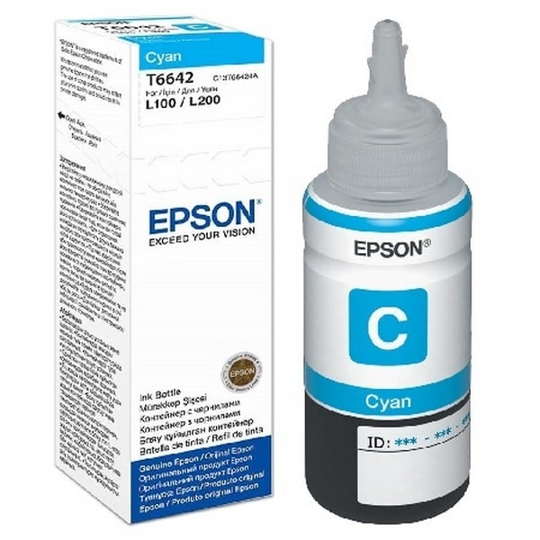 INK BOTTLE T664 EPSON CYAN ORIGINAL @ (Available On Order Only)