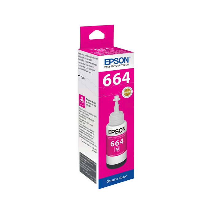 INK BOTTLE T664 EPSON MAGENTA ORIGINAL @ (Available On Order Only)